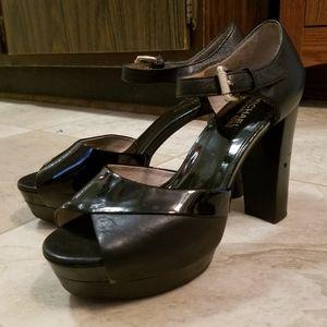 Michael Kors fetish mixed punk chunky heels